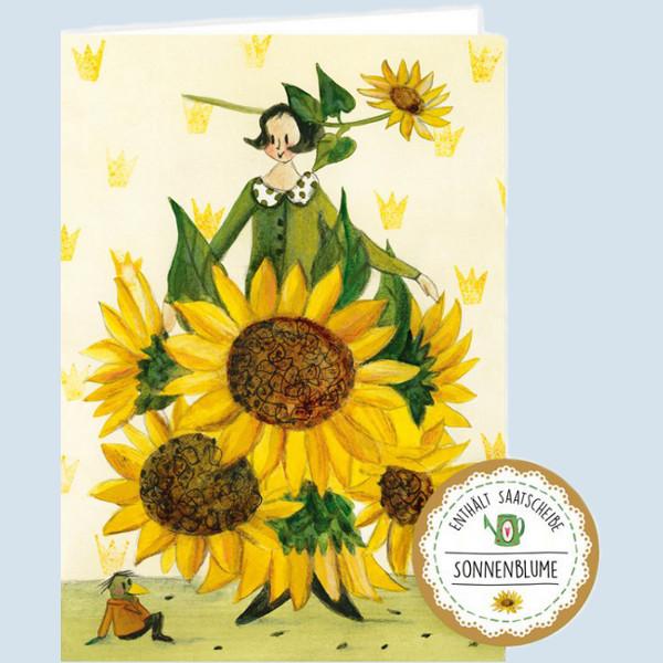 Grätz Verlag - Samenkarte, Glückwunschkarte - Sonnenblumen