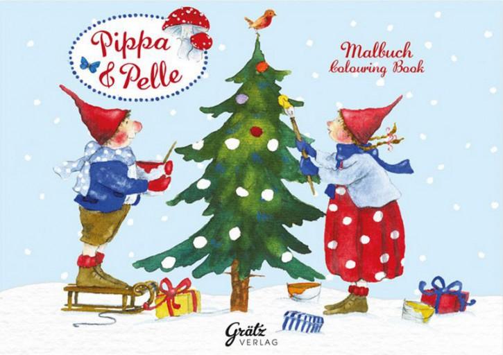 Grätz Verlag - Malbuch, Weihnachten mit Pippa und Pelle