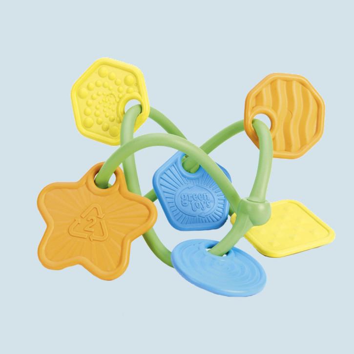 Green Toys - Beißring Teether - mit 6 Anhängern