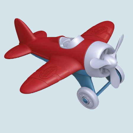 Green Toys - Flugzeug - rot
