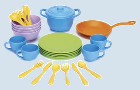 Green Toys - Spielset für Spielküche - Koch- und Essgeschirr