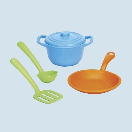 Green Toys - Spielset für Spielküche - Kochgeschirr