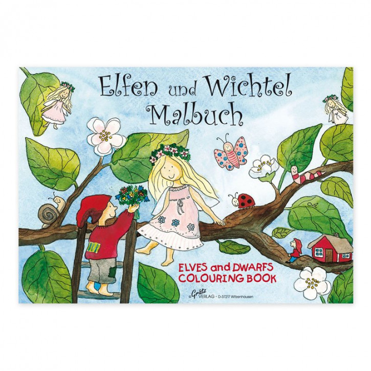 Grätz Verlag - coloring book - little elve and gnome , DIN A 5