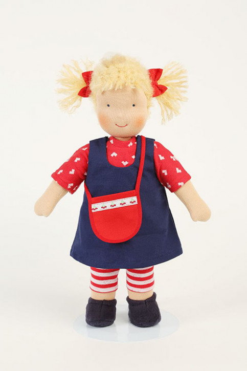 Heidi Hilscher Puppe - Amelie - blonde Haare, bio