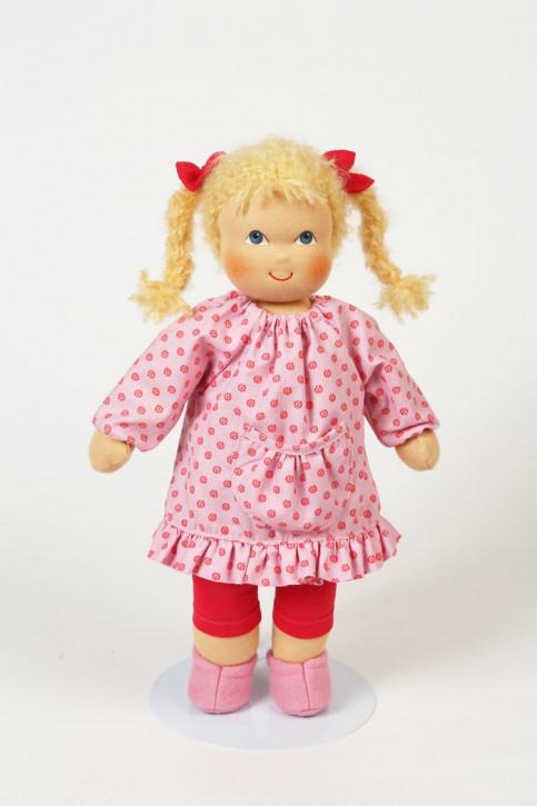 Heidi Hilscher Puppe - Bio Schlenkerpuppe Evi - blonde Haare