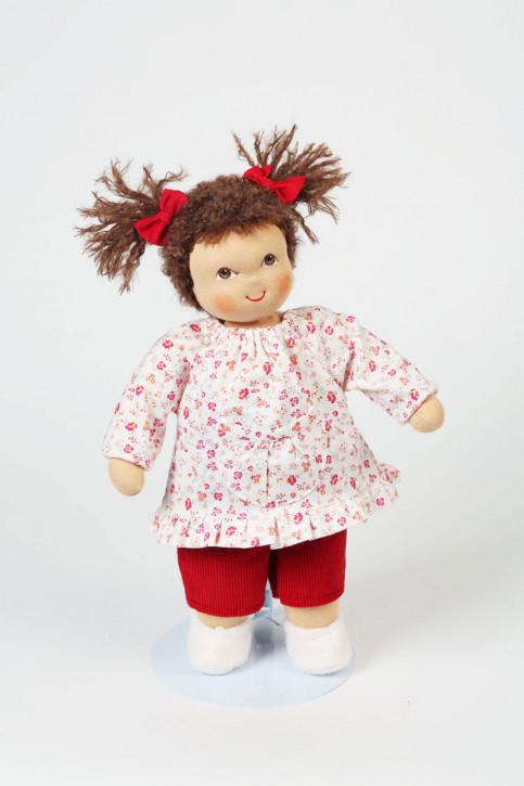 Heidi Hilscher Puppe - Bio Schlenkerpuppe Lilli - braune Haare