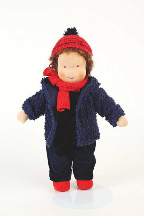 Heidi Hilscher organic doll  - Maximilian - brown hair, eco