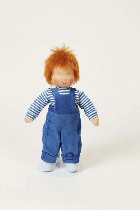 Heidi Hilscher Puppe - Bio Schlenkerpuppe Michel - blonde Haare