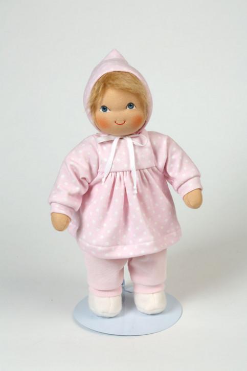 Heidi Hilscher - Puppenkleidung - Set Pünktchen rosa - Bio Qualität