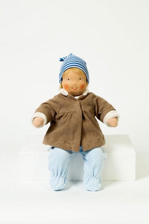 Heidi Hilscher Puppenkleidung - Winterset braun - Bio