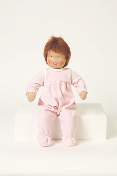 Heidi Hilscher -  organic baby doll - brown hair, eco, wool
