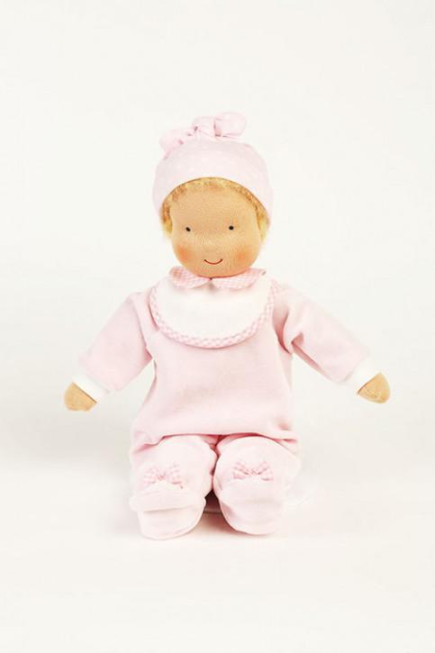 Heidi Hilscher Puppe - Bio Puppenbaby Nesthäckchen - blond