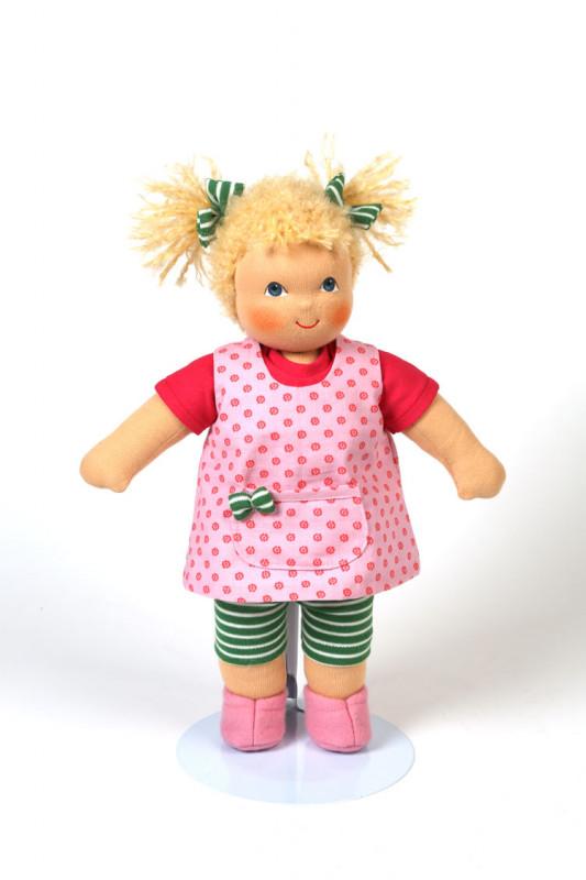 Heidi Hilscher Puppe - Bio Schlenkerpuppe Johanna - blonde Haare