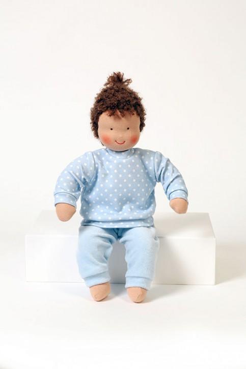 Heidi Hilscher Puppenkleidung - Schlafanzug blau - Bio