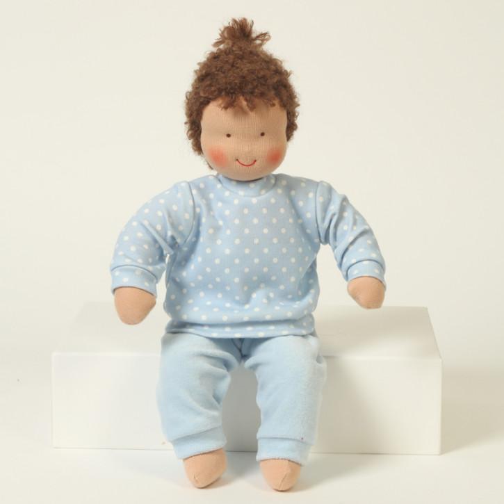 Heidi Hilscher Puppenkleidung - Schlafanzug blau - Bio Qualität