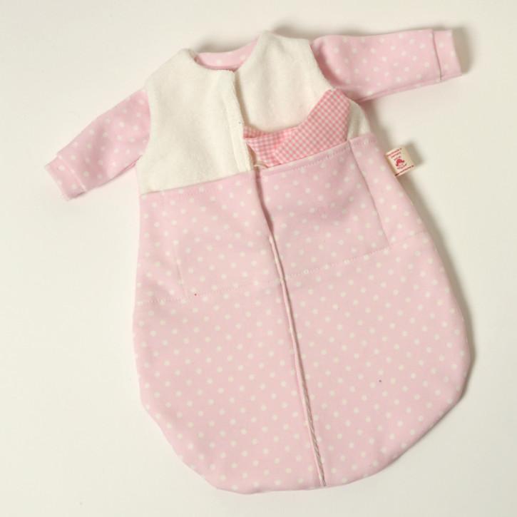 Heidi Hilscher Puppenkleidung - ärmelloser Schlafsack rosa - Bio Qualität