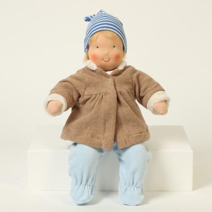 Heidi Hilscher Puppenkleidung - Winterset braun - Bio Qualität