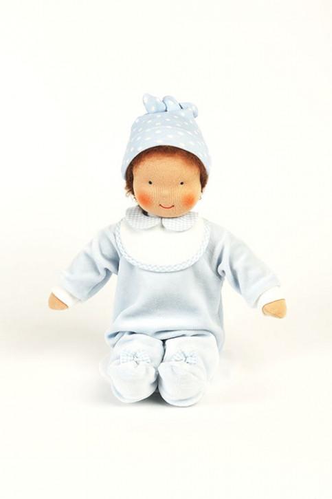 Heidi Hilscher - Puppenkleidung - Set Nesthäckchen blau - Bio Qualität
