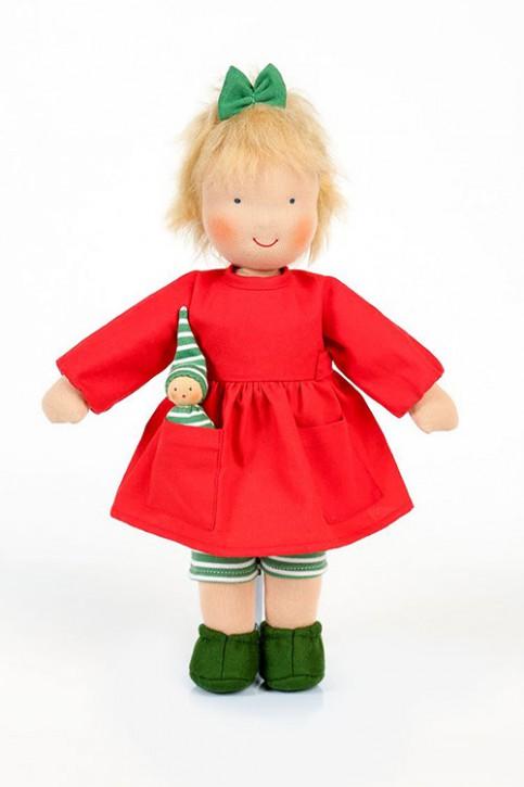 Heidi Hilscher Puppe - Dida grün - mit Püppchen, bio