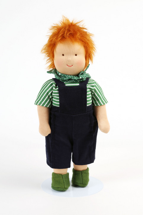 Heidi Hilscher organic doll - Emil - red hair, eco
