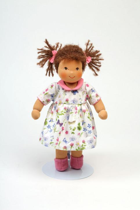 Heidi Hilscher Puppe - Bio Schlenkerpuppe Frederike - braune Haare