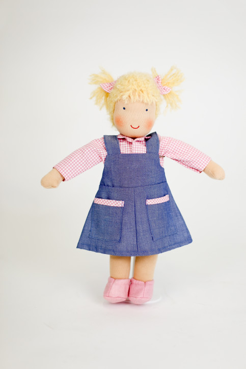Heidi Hilscher organic doll - Hannah - blond hair, eco