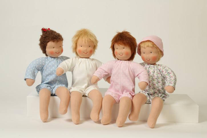 Heidi Hilscher Puppe - Bio Puppenbaby  Struwwelchen - braune Haare