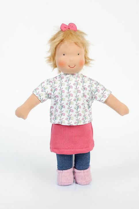 Heidi Hilscher Puppe - Bio Schlenkerpuppe Laura - blonde Haare