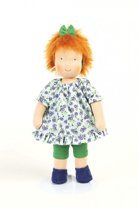 Heidi Hilscher organic doll - Sia - red hair, eco