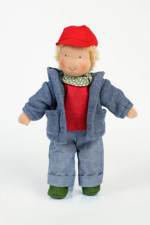 Heidi Hilscher organic doll - Oskar - blond hair, eco