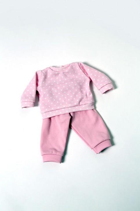 Heidi Hilscher Puppenkleidung - Schlafanzug rosa - Bio Qualität