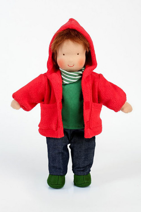 Heidi Hilscher organic doll - Johann - brown hair, with jacket