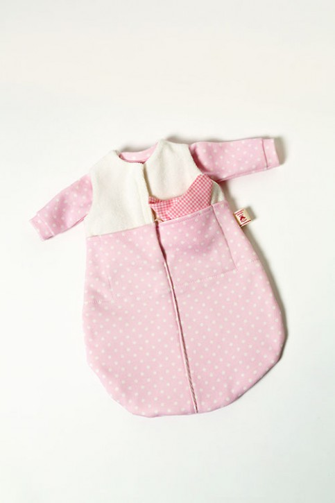 Heidi Hilscher - doll clothing - sleeping bag, pink, organic cotton