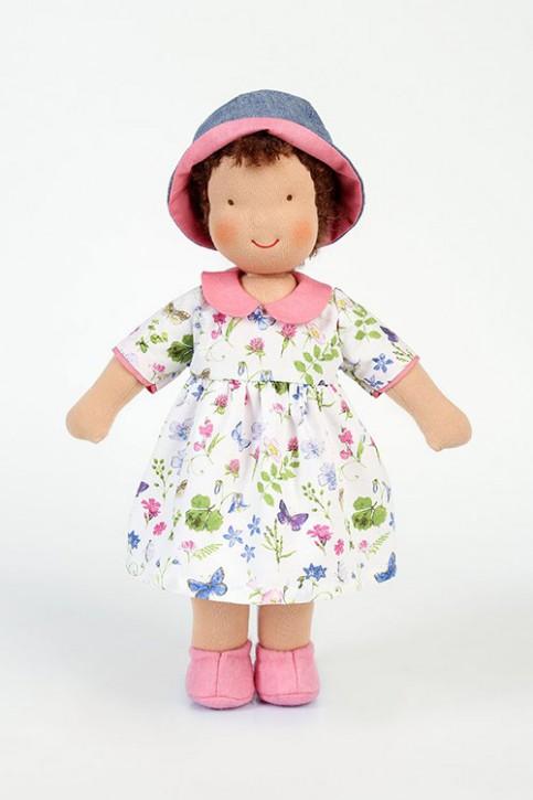 Heidi Hilscher organic doll - Frederike, with hat - brown hair