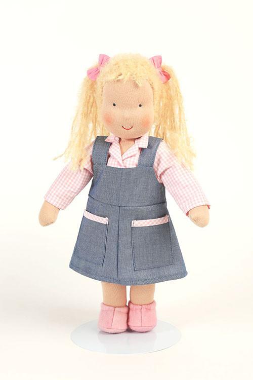 Heidi Hilscher Puppe - Hannah - blonde Haare, lang, bio