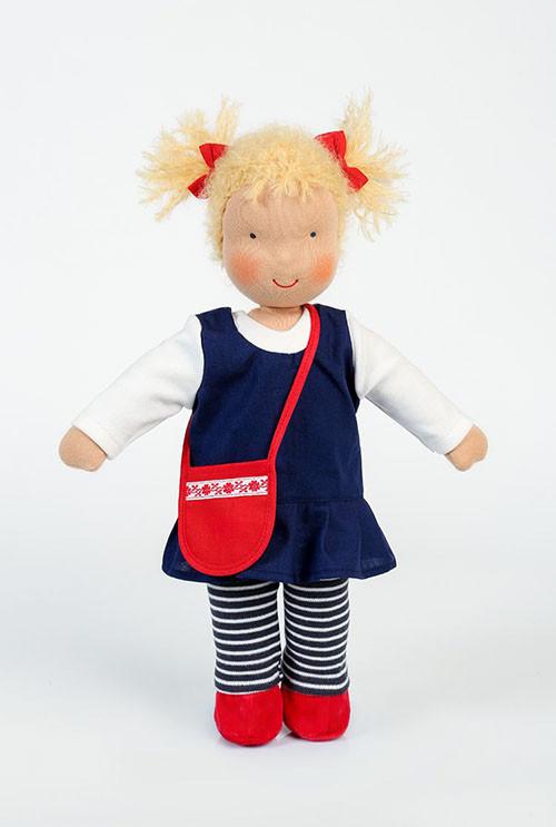 Heidi Hilscher Puppe - Bio Schlenkerpuppe Judith - blonde Haare