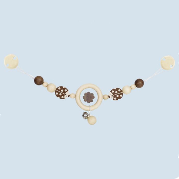 Heimess nature - pram chain ladybird, with clips