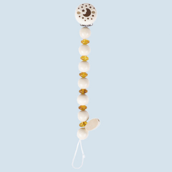 Heimess nature - soother chain amber