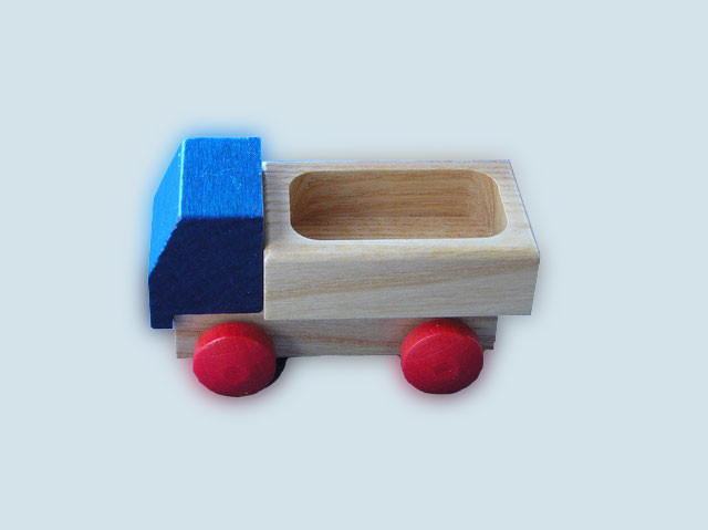 Beck - Lieferwagen / Holzauto - blau, Made in Germany
