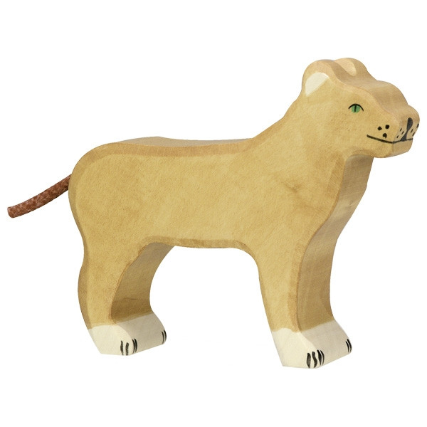 Holztiger - Holztier Löwin, Holzfigur