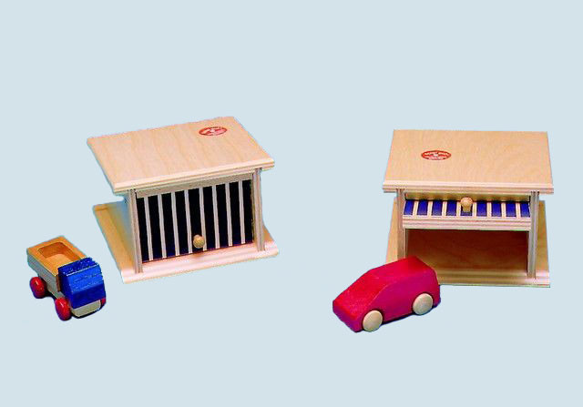 Beck - Garage mit Kipptor - aus Holz - made in Germany