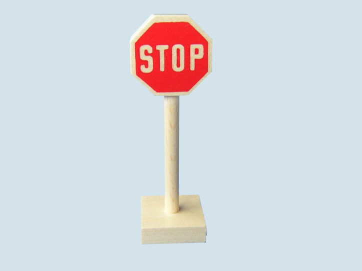 Beck toys - wooden stop sign - Made in Germany