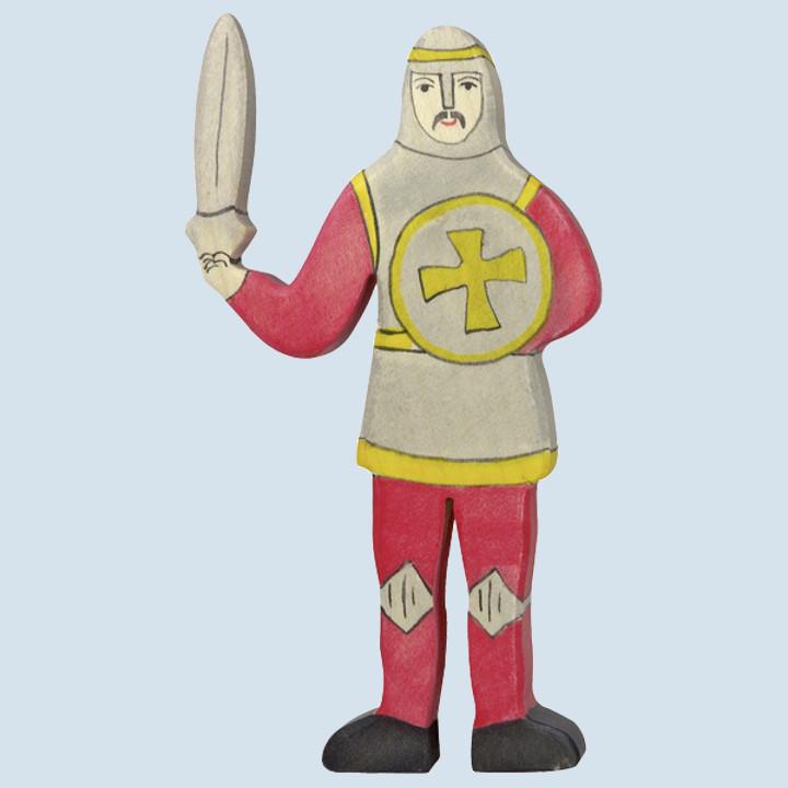 Holztiger - Holzfigur Ritter, rot, kämpfend