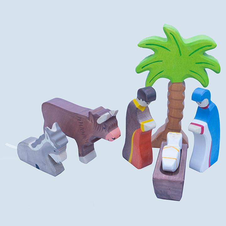Holztiger - Krippenfiguren Set - 6-teilig