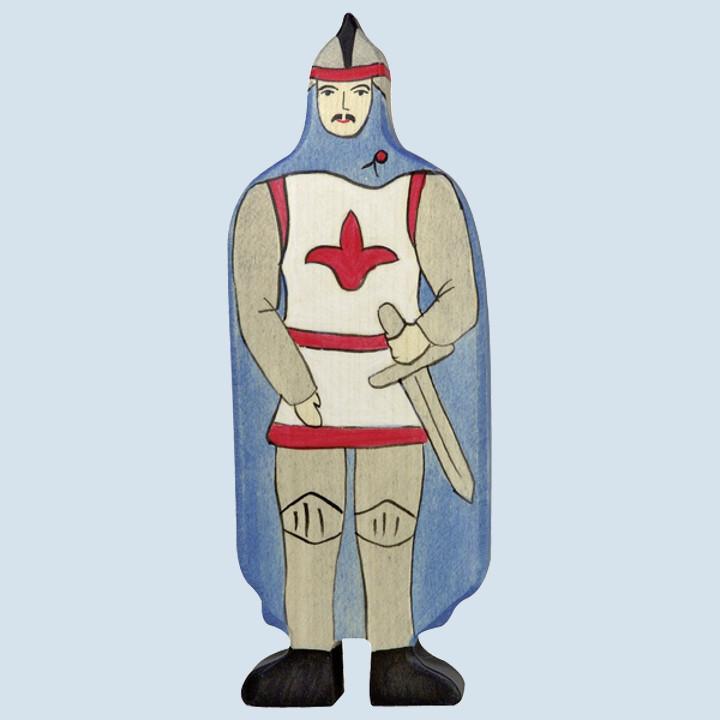 Holztiger - Ritter, mit blauen Mantel