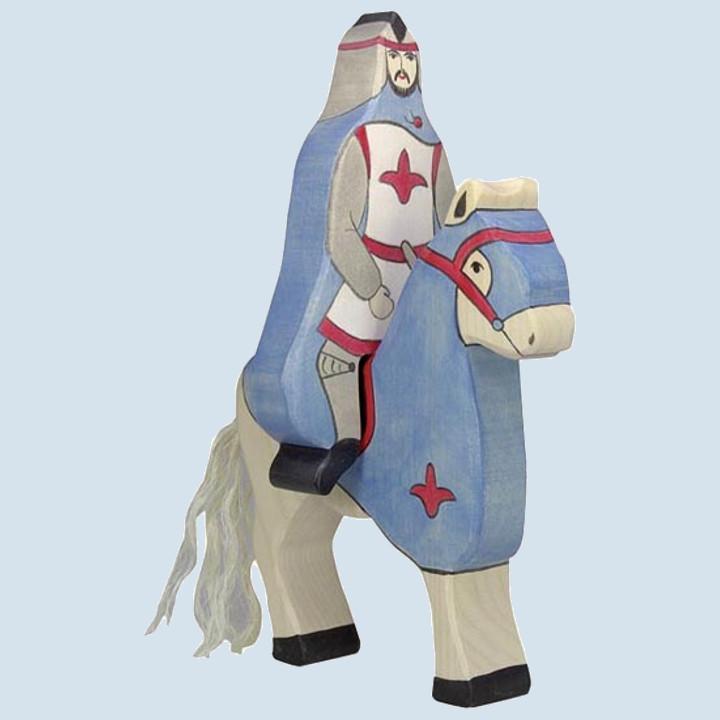 Holztiger - Holzfigur Blauer Ritter, reitend, ohne Pferd