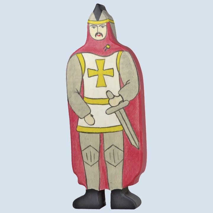 Holztiger - Ritter, mit rotem Mantel