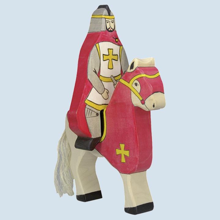 Holztiger - Holzfigur Roter Ritter, reitend, ohne Pferd