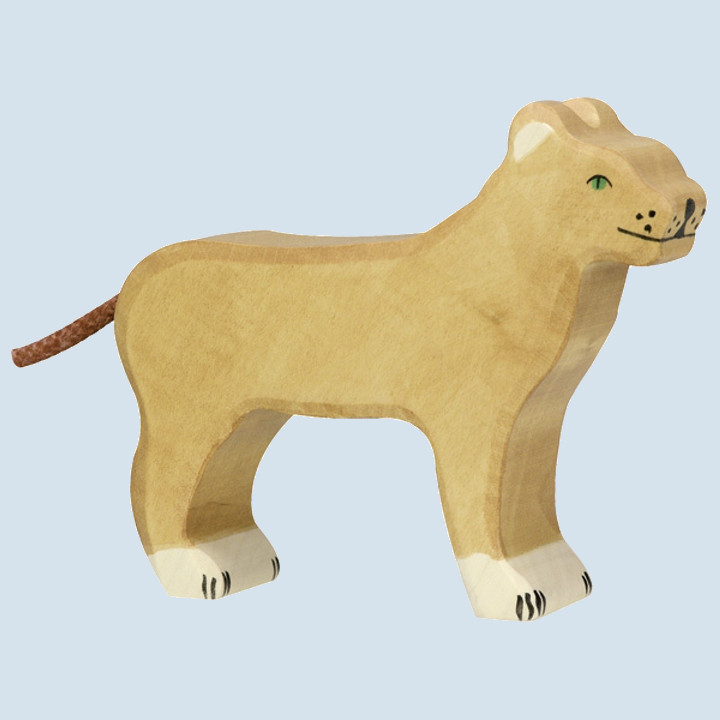 Holztiger - wooden animal - lioness