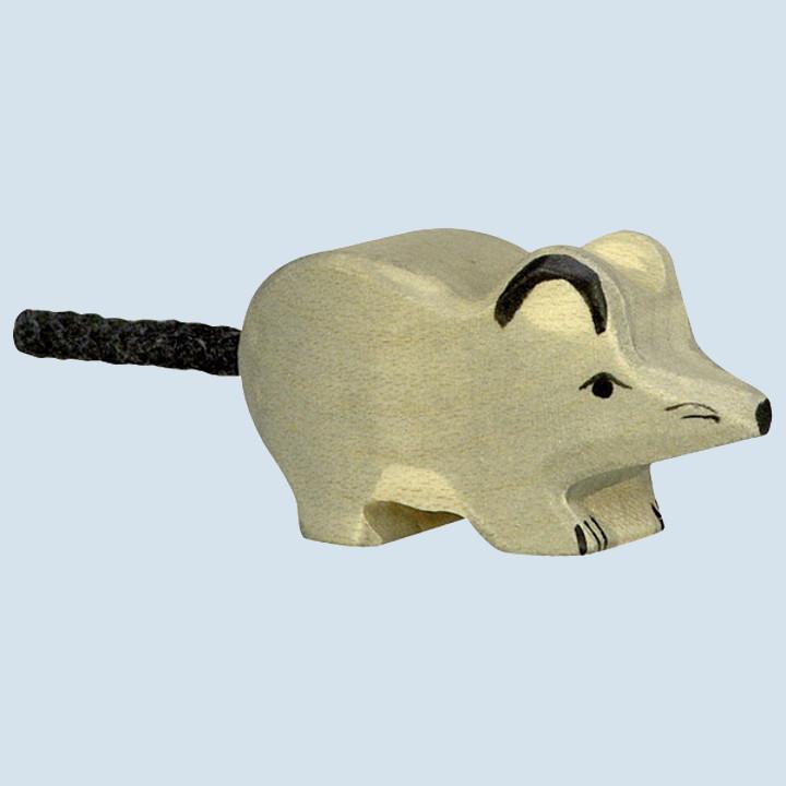 Holztiger - Holztier Maus, grau